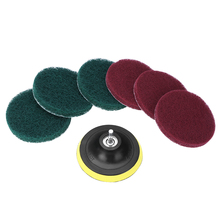 1 Set Wear Resistant Drill Brush Power Scrubber Scumbusting Scrub Pads Tile Cleaning Kit For Electric
