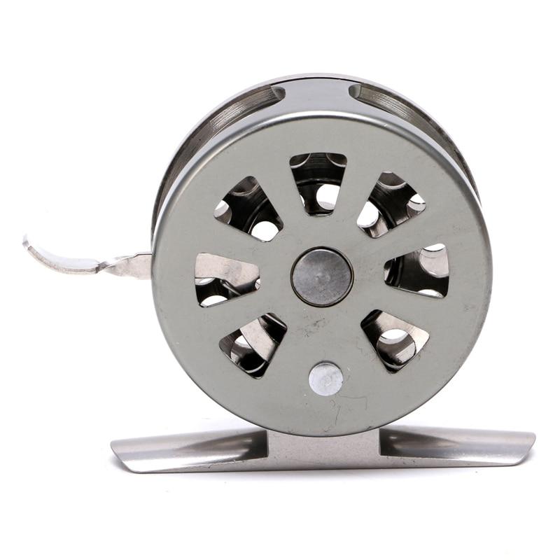 Image 5 - New Fishing Metal Coils Centrifugal Drop Round Aluminum Alloy Bearings Fly Fishing Wheel CoilFishing Reels   -