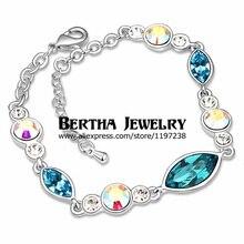 New Design Luxury Pretty Bracelet Pulseras For Women Decorations Crystals from Swarovski Cristal Bijoux Charm Jewelry
