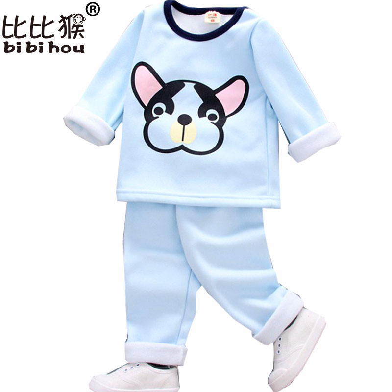 new year costume autumn winter suit for boys cartoon dog clothing sets toddler girl clothing fashion children tracksuit infant