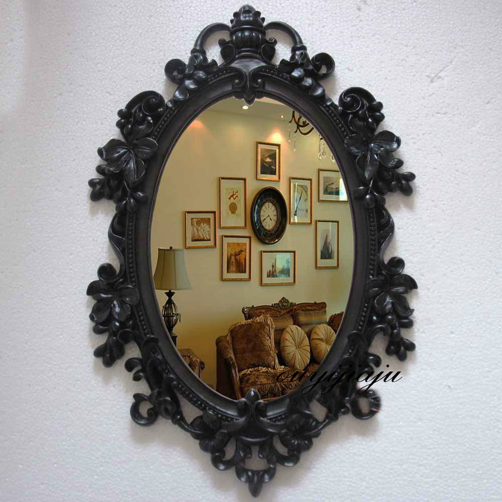 antique oval mirror frame. Large Big Decorative Cosmetic Antique Oval Wall Mirror With Frame Vintage Wedding Gift Bathroom/shower Royal Style Home Decor-in Mirrors From