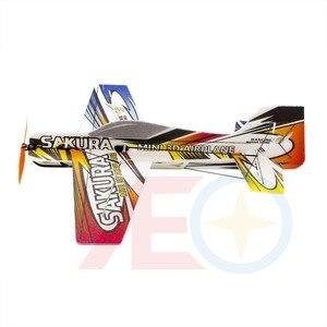 Image 4 - חדש EPP קצף מיקרו 3D מקורה מטוס סאקורה הקל מטוס ערכת (מפורק) RC מטוס RC דגם תחביב צעצוע חם למכור RC מטוס