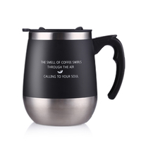 ONEDAY Coffee Mug Cute Big Belly Cup MUGS For Female Lovers Creative Office Stainless Steel Insulated