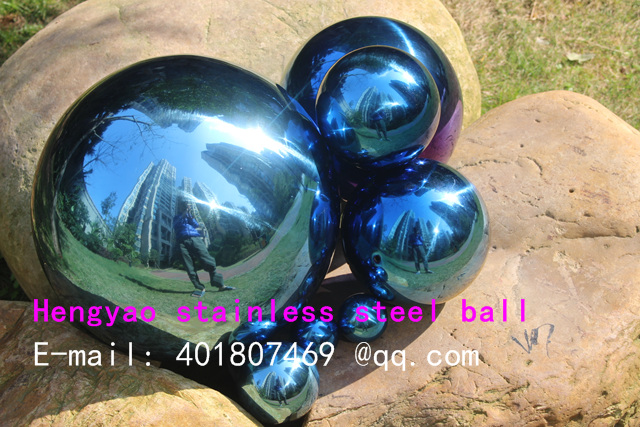 250 mm në diametër Top blu çeliku inox, top i uritur, top - Dekor në shtëpi - Foto 5