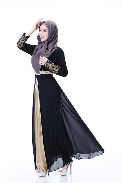 Ferace Islamic Muslim Dresses For Women Long Dresses Malaysia Abayas In Dubai Turkish Ladies Clothing Women Muslim Dresses