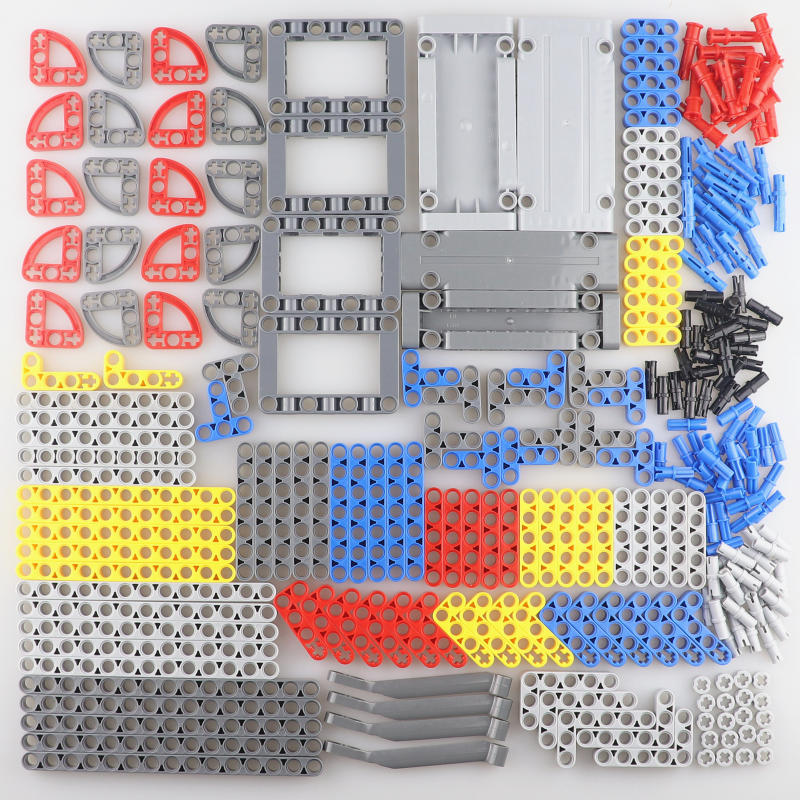 402pcs set Technic Parts Bulk Building Blocks Flat Panel Beam MOC Compatible Tank Truck Motorcycle Accessory Model Kits Kid Toys in Blocks from Toys Hobbies