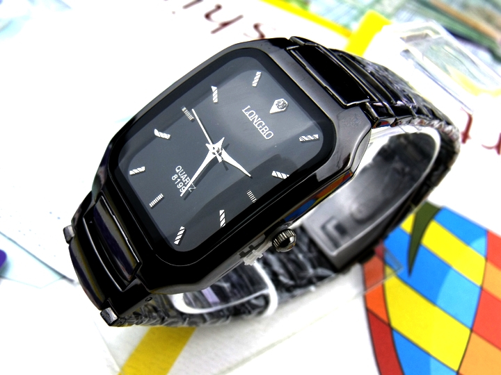 Fashion Longbo Brand Watch Male Business Casual Sports Watches Quartz Full Black Stainless Steel Clock Gift Dress Wristwatches 2016 biden brand watches men quartz business fashion casual watch full steel date 30m waterproof wristwatches sports military wa