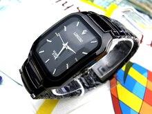 Mode Longbo Marque Montre Mâle Affaires de Sports Occasionnels Montres À Quartz Noir Complet En Acier Inoxydable Horloge Cadeau Robe Montres