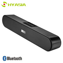 цены HYASIA Speaker Bluetooth 5.0 Soundbar FM Portable Subwoofer Wireless Speakers Sound bar  PC AUX Home Theater Computer Speaker TV