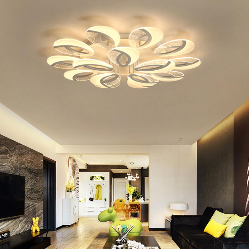 LED Living Room Ceiling Lamps Modern Luminaires Home Fixtures Children Bedroom Ceiling Lighting Iron Acrylic Ceiling Lights(China)