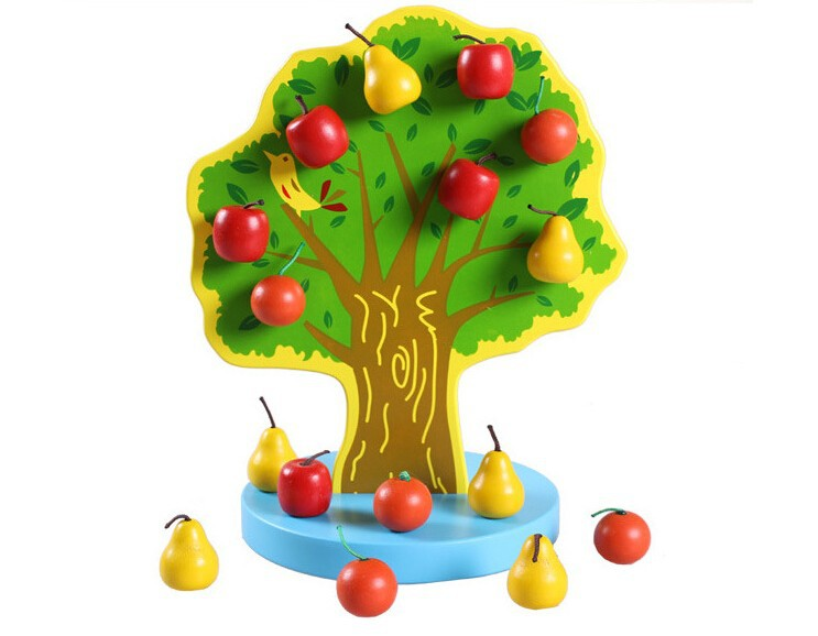 DIY Montessori Material Educational Wooden Toys Magnetic ...