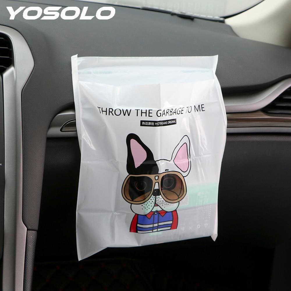 YOSOLO 3Pcs/Pack Car Garbage Bag Storage Bag for Litter Auto Seat Back Hanging Trash Can Waterproof Car Organizer