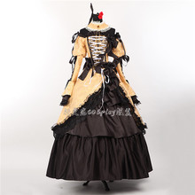 купить VOCALOID Kagamine Rin palace full dress cosplay costume дешево