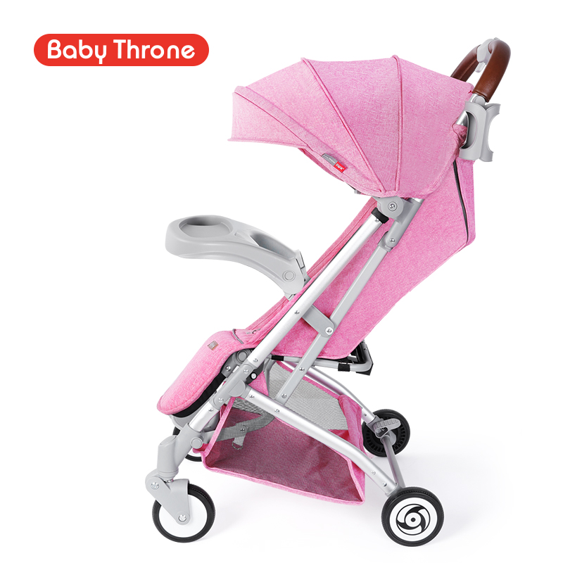 Baby stroller folding lightweight reclining four wheelchair baby BB car high landscape umbrella multifunction
