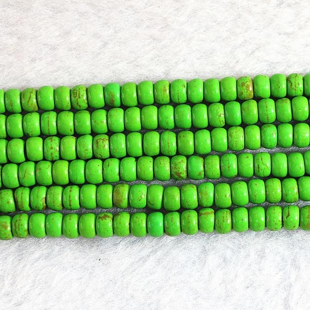Mode vert calaite turquoises pierre 4x6mm 5x8mm nouveau boulier perles en vrac bricolage beaux bijoux B303
