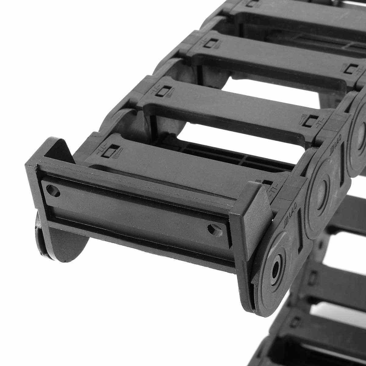 1000mm kabel przenośnik łańcuchowy przewoźnik drutu 25x77mm nylonu wzmocnionego włóknem szklanym PA66 łańcuchy dla obrabiarek CNC Router