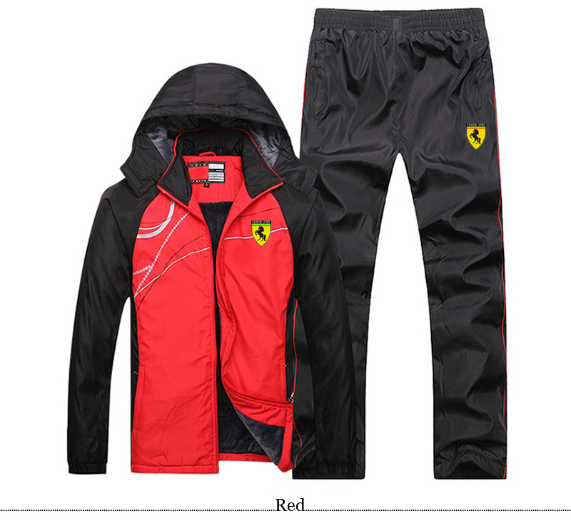 Men Hooded Track TrackSuit Sport Thin Jacket Coat Top Suit Set Trousers Pants Sweats Suits Sportwear Sweatshirt 4 Colors