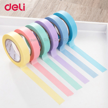 Deli Washi Masking Tape Set Creative Colorful Decorative Diary Scrapbooking DIY Craft Sticky Label Stationery School Supply