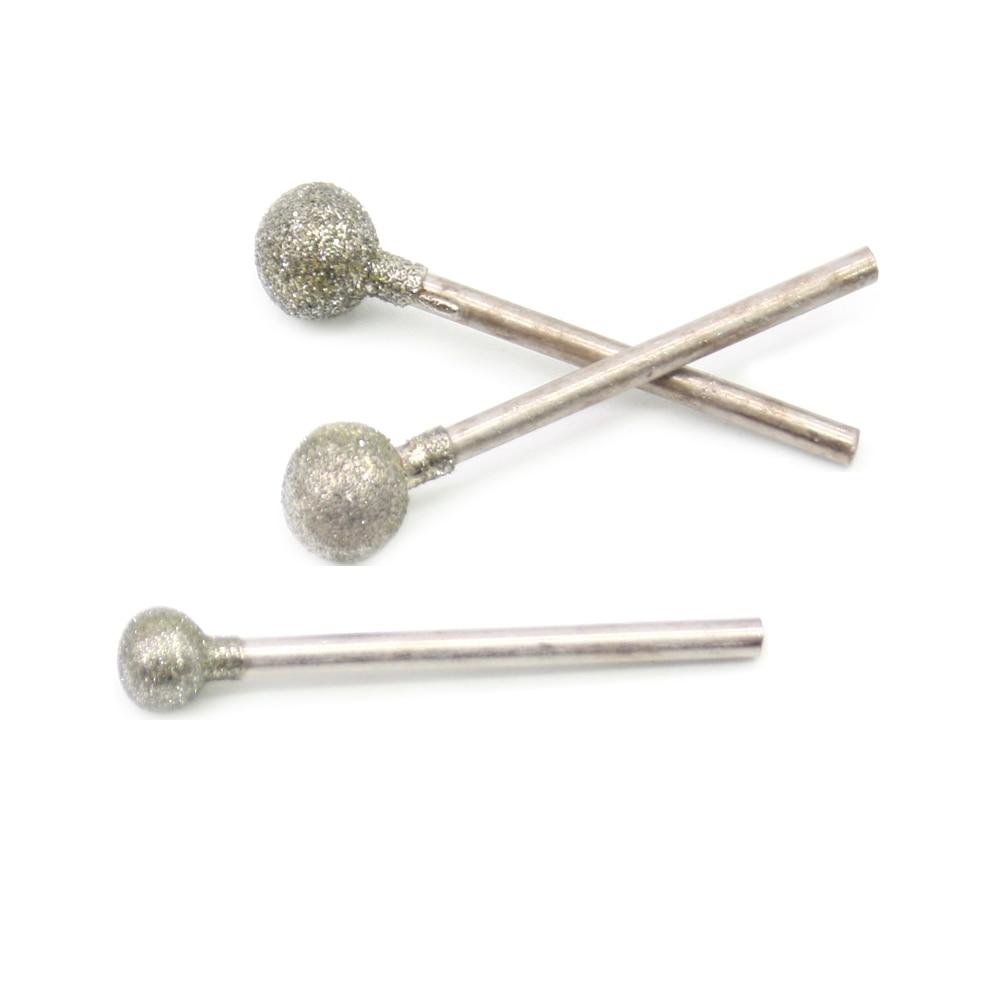 Punte da 2,35 mm Punte abrasive diamantate a forma di sfera di medio - Abrasivi - Fotografia 3