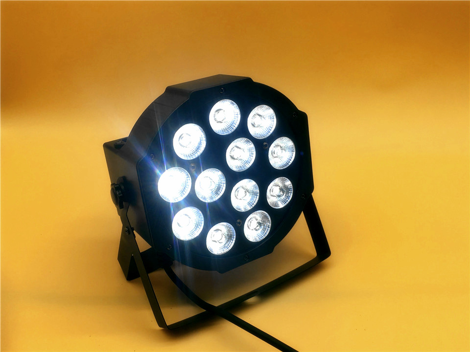 20 Pz/loto CREE RGBWA UV  12x18 W LED Flat SlimPar Quad Luce 6in1 LED DJ Wash Stage Light Dmx Luce Della Lampada 6/10 Channes