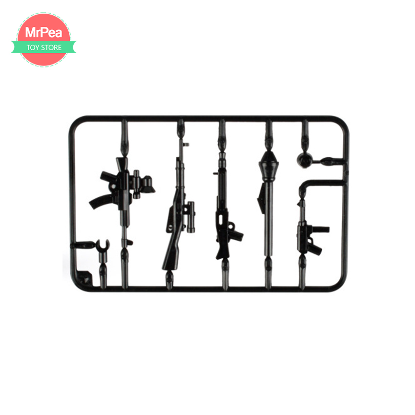 100pcs Military Swat Police Gun Weapons Pack Army Soldiers Building Blocks Moc Arms City Compatible With Legoingly Weapon Series #4