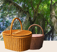 2017 Indonesia cane manual outdoor picnic basket laden basket hotel towel clean storage basket