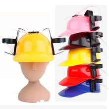 Helmet Drinking Beer cola Coke Soda Miner Hat Lazy lounged Straw Cap Birthday Party Cool Unique Toy Prop Holder Guzzler(China)