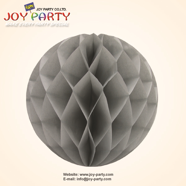 10 pieces per lot Grey Tissue Paper honeycomb ball Themed Wedding Boys Party Hanging Decorations