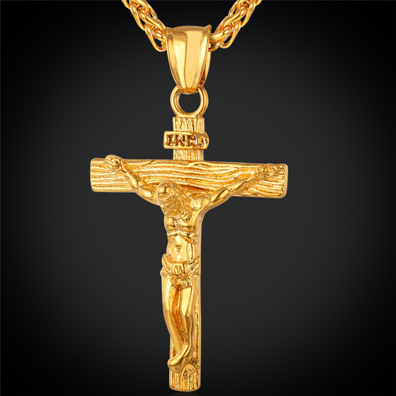 U7 Chain For Men Trendy Yellow Gold Plated Stainless Steel