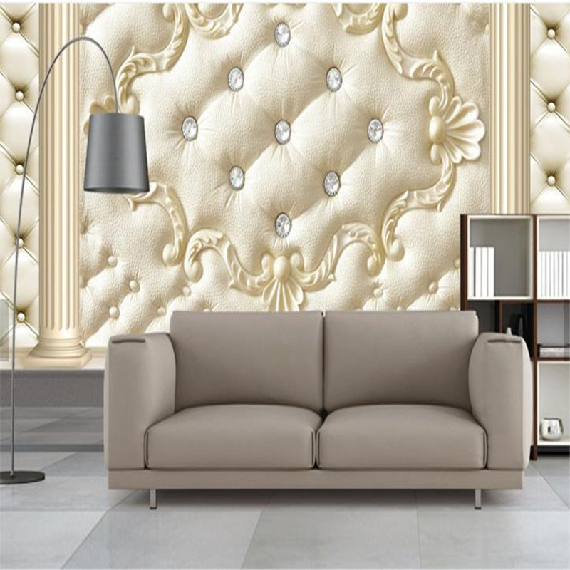 European Custom Photo Walls Murals 3D Stereoscopic Wallpapers Flower Pattern Roman Column Soft Pack for Living Room Wallpaper shinehome fashion makeups modelling salon beauty cosmetic 3d wallpaper wallpapers photo walls murals for 3 d roll wall paper