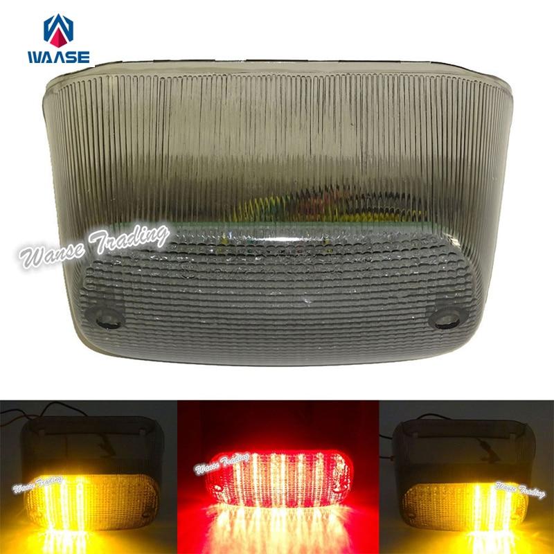 waase E-Marked Rear Taillight Tail Brake Turn Signals Integrated Led Light Smoke Lens For 1998-2005 SUZUKI Boulevard C50 C90 цена