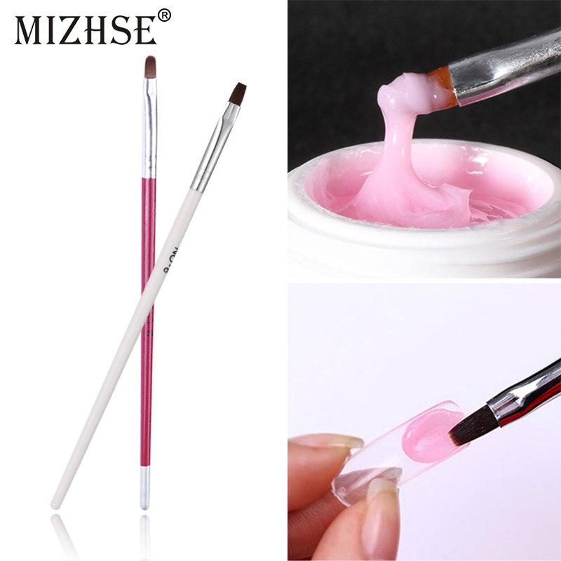 MIZHSE UV Gel Acrylic Design Pen Builder Painting Nail Brush Poly Gel Tool Varnish Soak Off 3D Effect GEL DIY Nail Art Drawing
