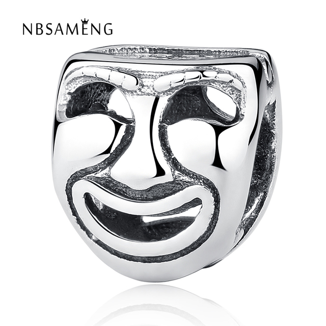 9e5e9f5d0 ... european charm women diy promo code for authentic 925 sterling silver  bead charm openwork cute theater masks beads fit pandora ...