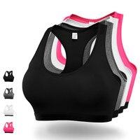 Lorun مثير الرياضة البرازيلي اليوغا قمم المرأة الجري مبطن دفع حتى صدريات لل لياقة رياضة الجري اليوغا قميص بنات زائد الحجم xxl