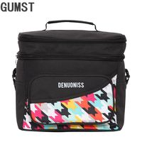 16L cooler bag waterproof oxford cool shoulder bag ice pack thermal picnic lunch box vehicle insulation bag for meal drinks