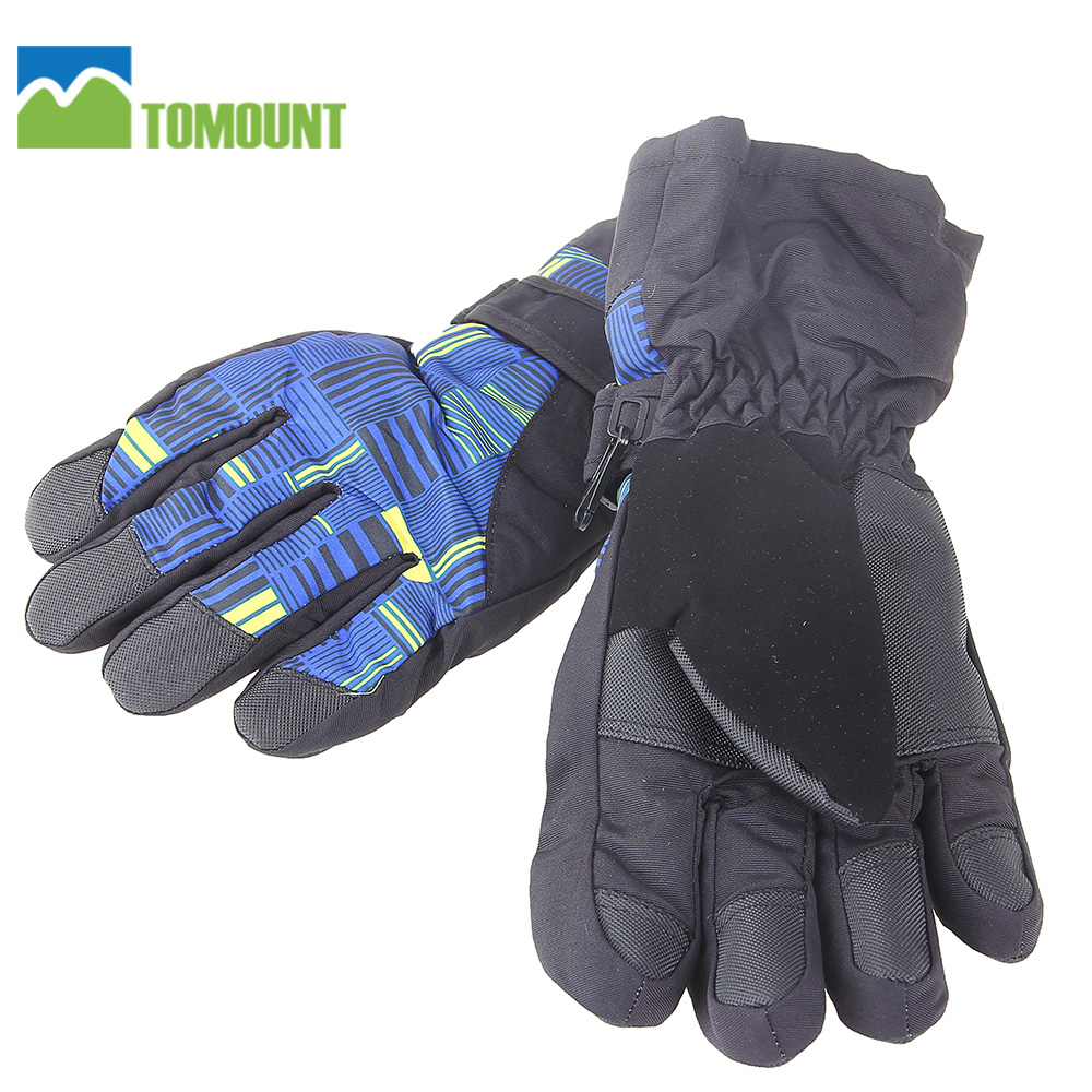 TOMOUNT Cycling Gloves Riding Snowboard Skiing Warm Gloves Motorcycle Winter Waterproof