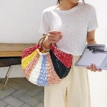 Female Straw Beach Bag Tote Crossbody Bags For Women 2019 Summer Wicker Designer Handbag Ladies Hand Rattan Flowers Shoulder Bag все цены