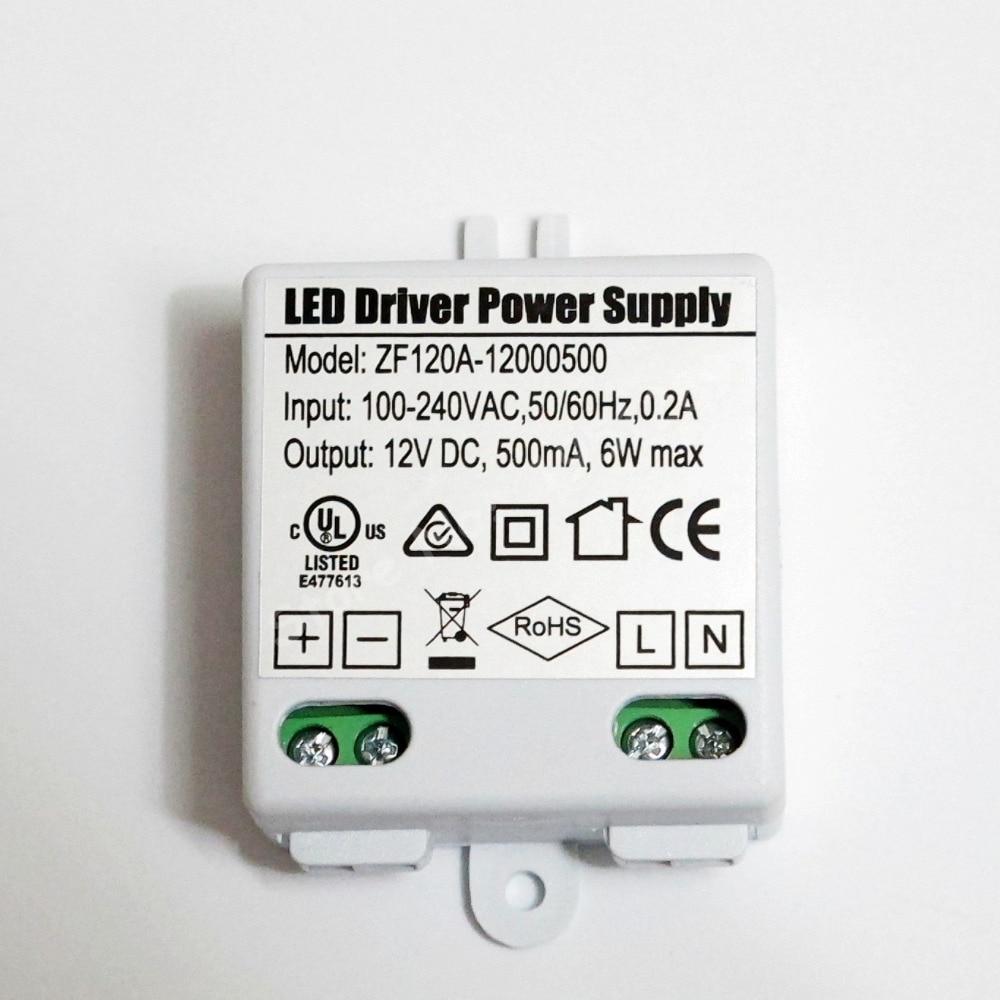 6W 500mA MR16 MR11 LED Driver AC/DC Adapter Transformer Input AC 100V-240V Output DC 12V For LED spotlight and LED strip светодиодный драйвер трансформатор источника питания 220v 240v для mr16 mr11 12v светодиодные лампы