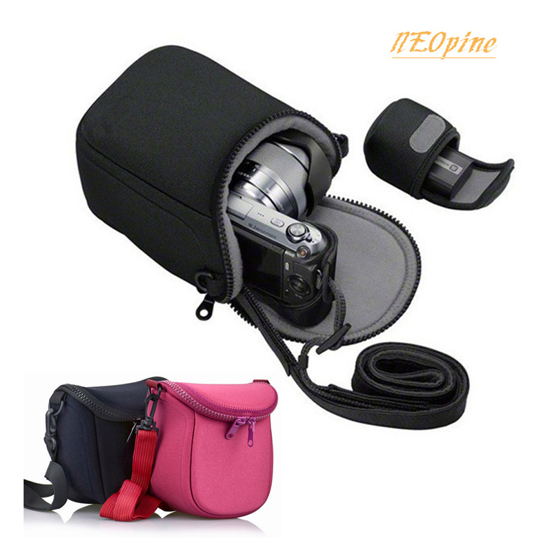 Camera Bag for <font><b>Canon</b></font> EOS M10 M5 M6 M3 M2 M100 SX400 SX410 SX420is SX500 SX510 SX520 SX530 <font><b>SX540HS</b></font> Portable pouch case With Strap image