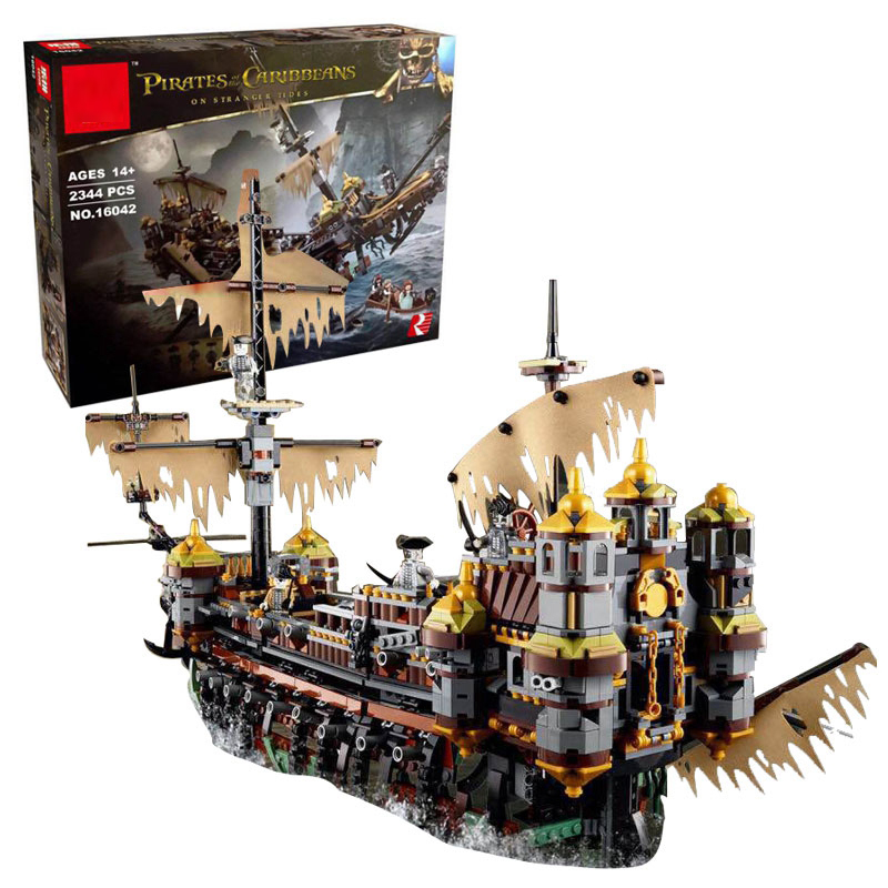 Pirates Série Le Silencieux Mary Modèle Blocs de Construction Compatible Legoings Bateau Classique-style L'éducation Jouet Pour Les Enfants De Noël Cadeaux