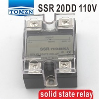 20DD SSR Control voltage 3~32VDC output 5~110VDC DC single phase DC solid state relay
