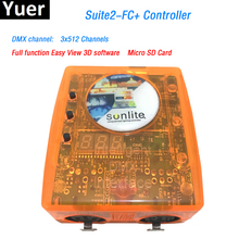 Stage controlling software Sunlite Suite2 FC+ 3x512DMX channels DMX-USD Controller for DJ KTV Party LED Lights Lighting