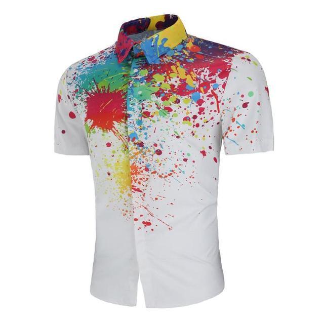 b20e4e70dc2 Summer Men Hawaiian Shirt Camisa Masculina Beach Printing Teen Casual  Turn-down Collar Tropical Button
