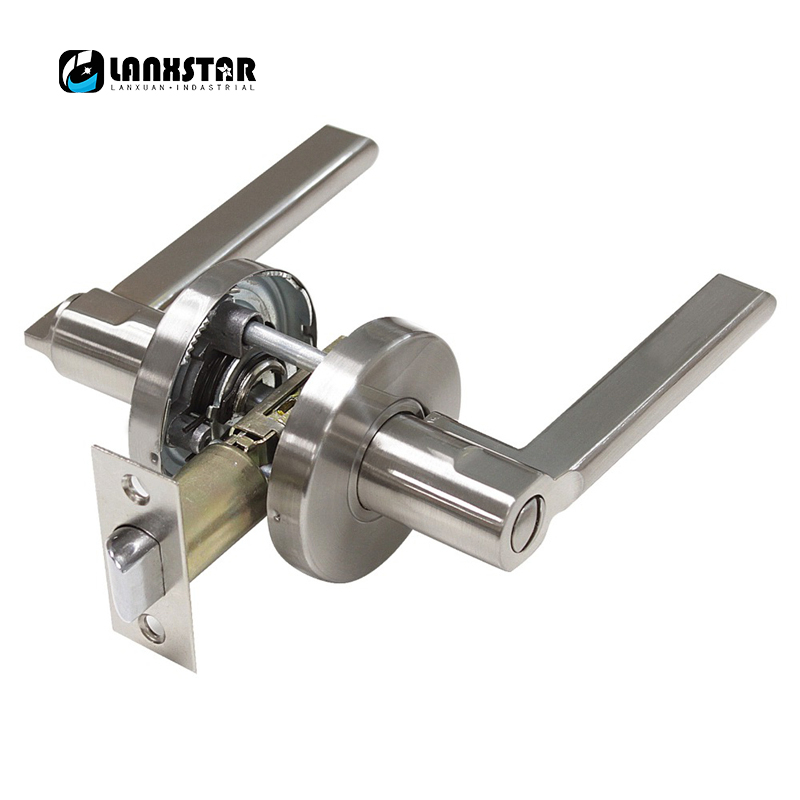 Security Door Lock 304 Stainless Steel Safety Single Spring Bolt