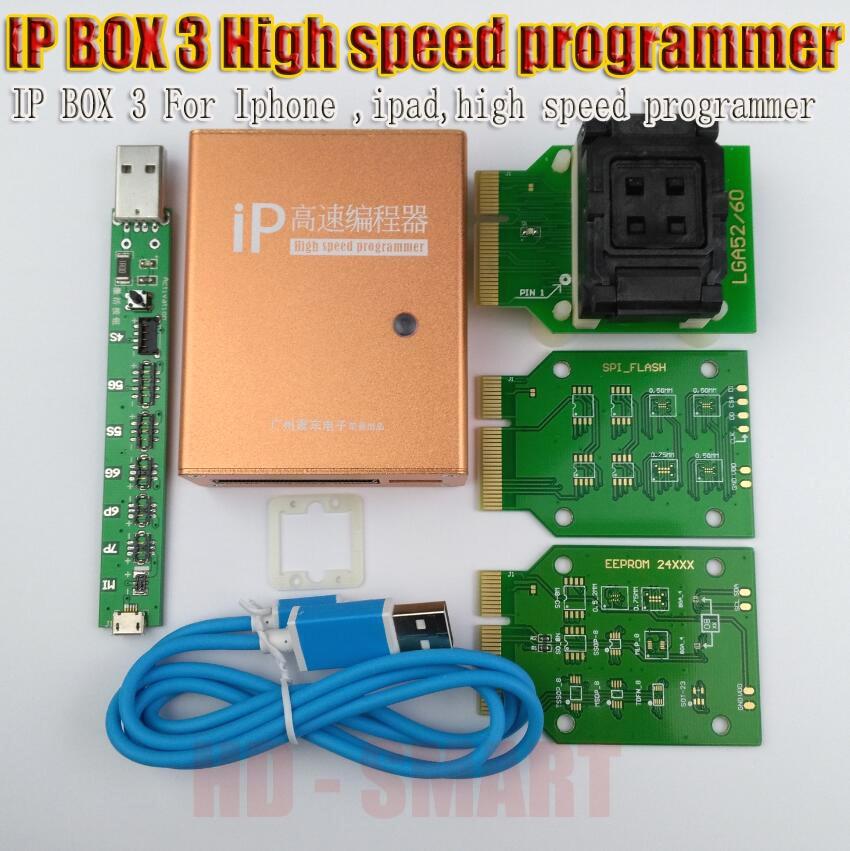 Box IP 2 IP BOX 3 ad alta velocità programmatore per pad phone hard disk programmers4s 5 5c 5 s 6 6 plus aggiornamento della memoria strumenti 16g to128gb
