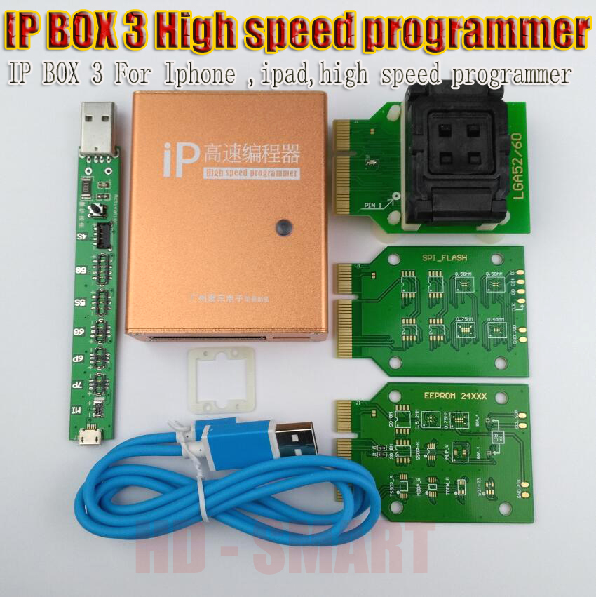 IP box 2 IP BOX 3 high speed programmer for phone pad hard disk programmers4s 5 5c 5s 6 6plus memory upgrade tools 16g to128gb