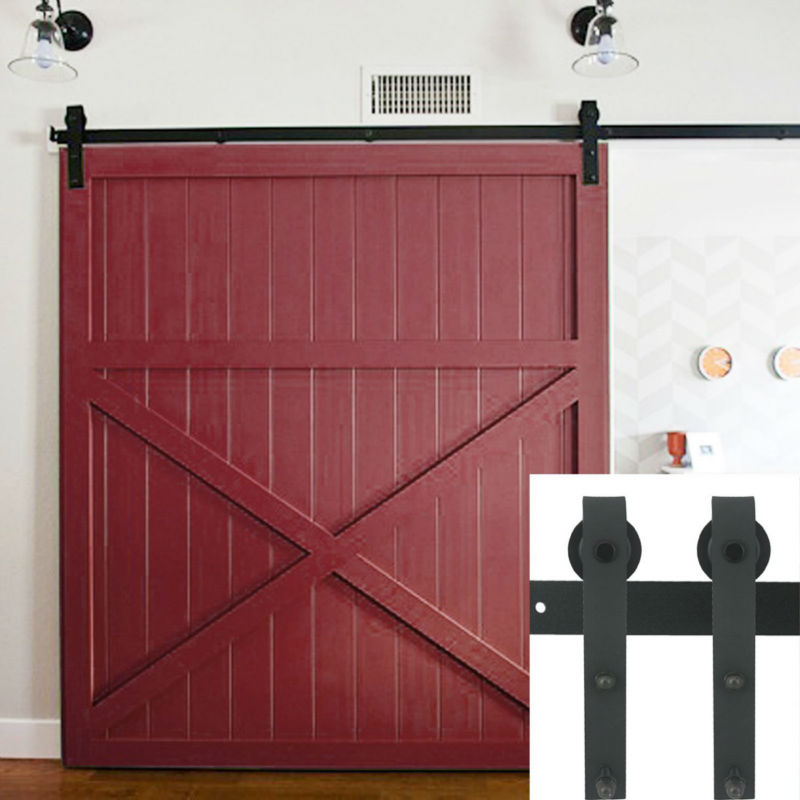 5 6 6 6 7 5 8 8 2 Ft Black Rustic Sliding Barn Door