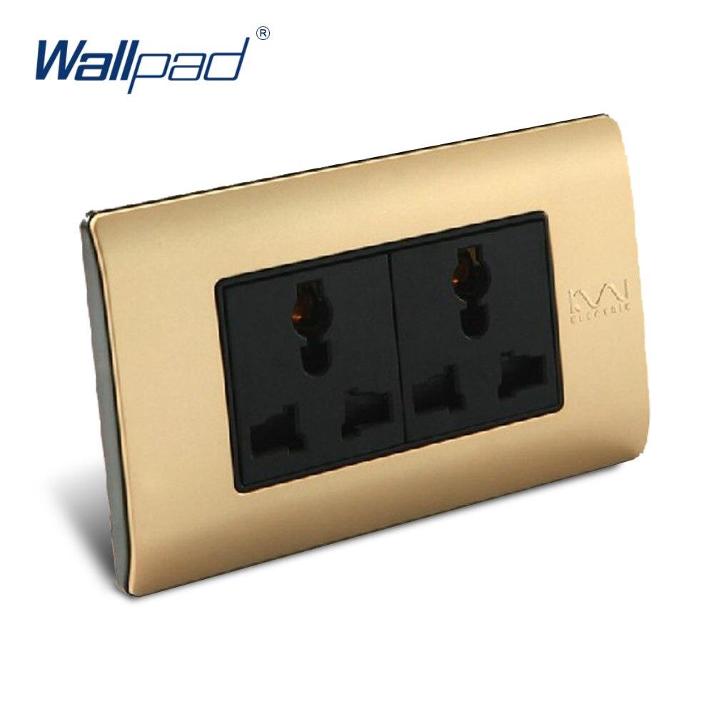 6 Pin Multifunction Socket Wallpad Luxury Wall Switch Panel C5-Series 118*72mm 10A 110~250V