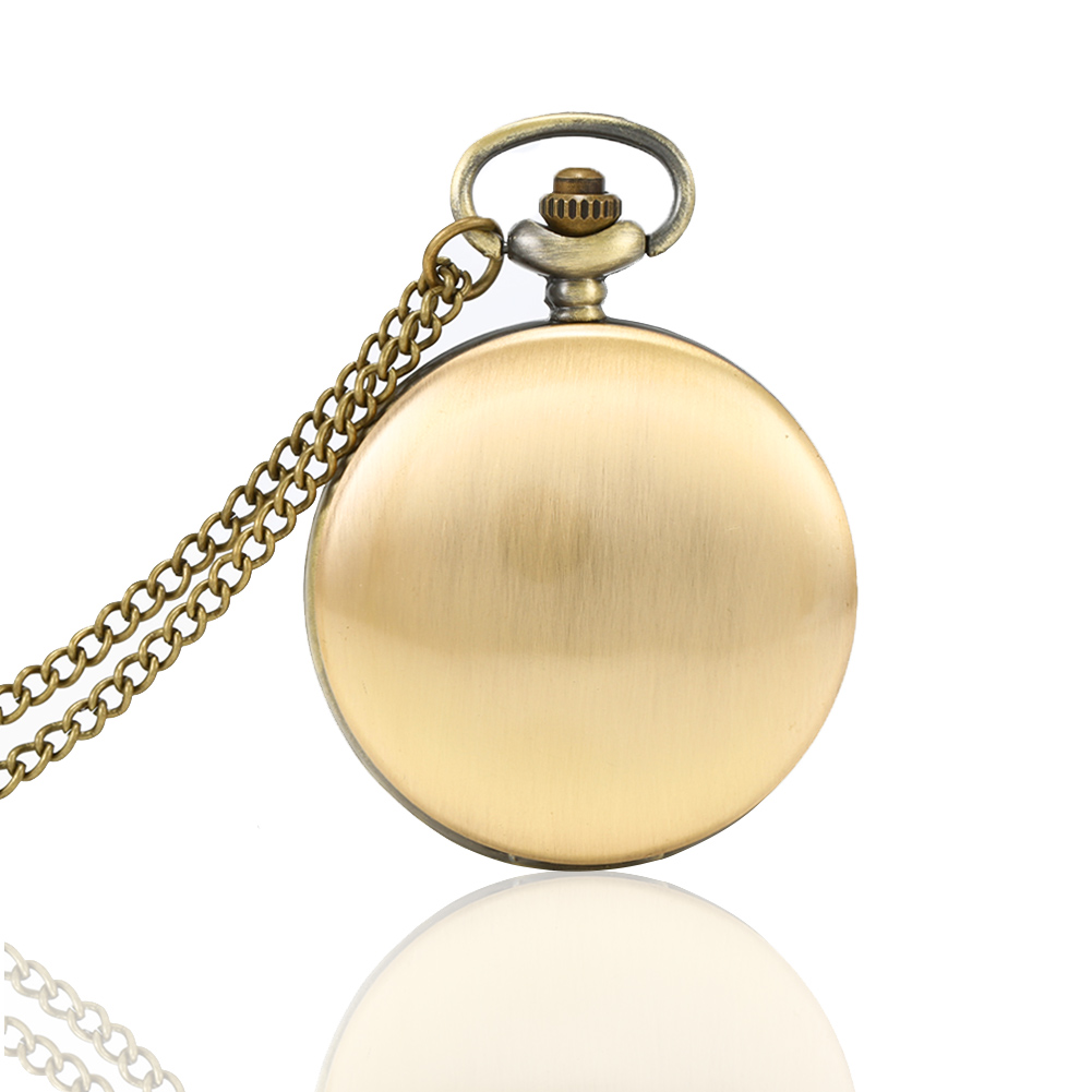 Gold Cloer Pocket Watch Classical Polish Quartz Pocket Watch Necklace Pendant Chain Clock For Men Women Gifts @17 TT@88
