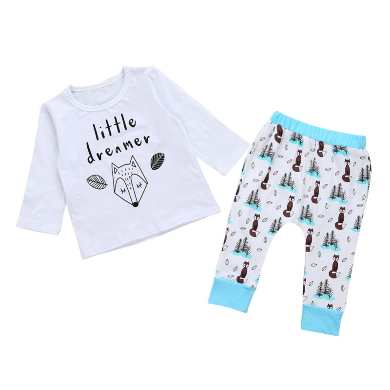 Autumn Baby Girl Clothes Set Letter Print Baby Sets Newborn Baby Boy Clothes Set Cotton Infantil Tops Pants Suit 2pcs/set